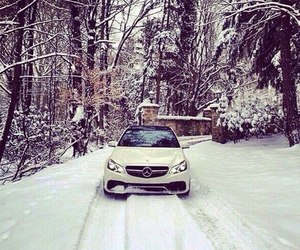 car, winter, and mercedes-benz image