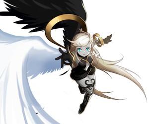 angel and anime girl image