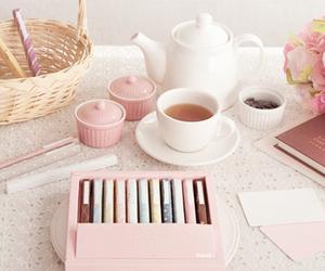 pink, pastel, and tea image