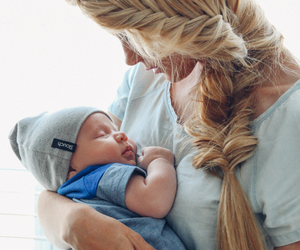 baby, mom, and hairstyle image