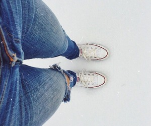 converse, jeans, and grunge image