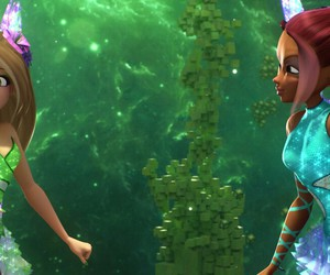 flora, Layla, and winx club image