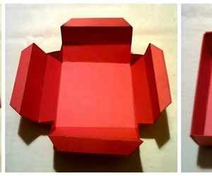 box, diy, and red image
