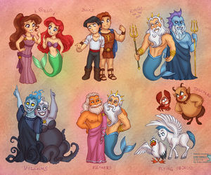 disney, hercules, and ariel image