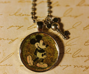 vintage mickey, mickey mouse pendant, and mickey pendant image