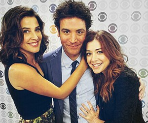 cobie smulders, how i met your mother, and Josh Radnor image