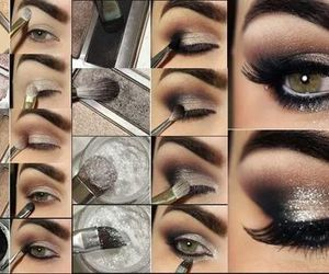 tutorial, makeup, and eyes image