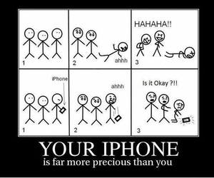 iphone, funny, and lol image