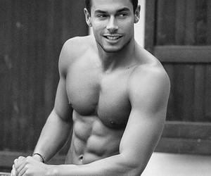 abs, andrea denver, and black and white image
