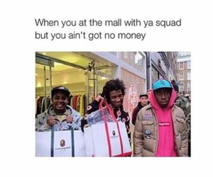 mall, money, and friends image