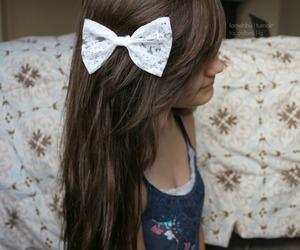 bow, girl, and hair image