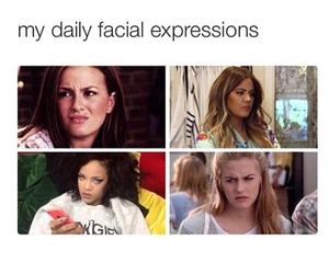 funny, daily, and expressions image