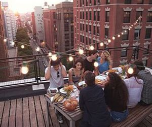 friends, light, and city image