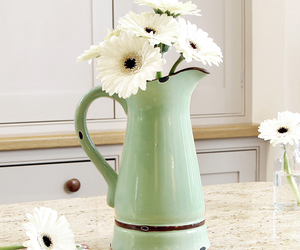 flowers, green, and vase image