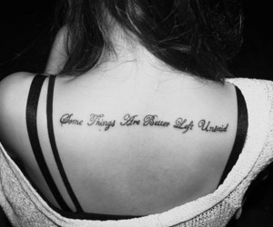 tattoo, black and white, and quote image