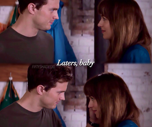 christian grey, Jamie Dornan, and dakota johnson image