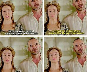 megan follows, reign, and henry ii image