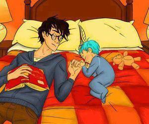 harry potter, teddy lupin, and book image