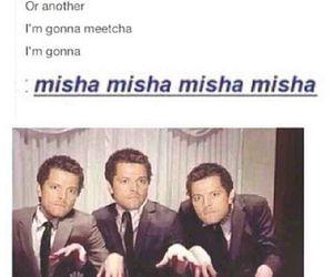 supernatural, misha, and castiel image