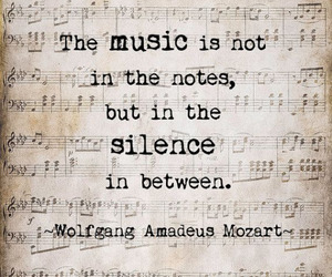 music, Mozart, and quote image