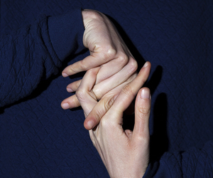 hands and blue image