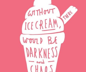 ice cream, pink, and quotes image