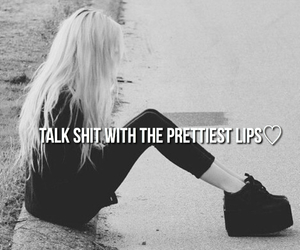 lips, quote, and grunge image