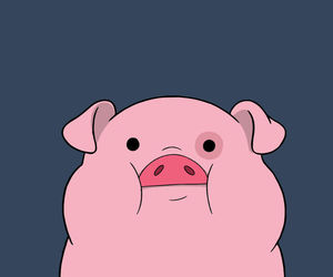 pig, wallpaper, and pink image