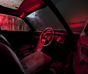 red, car, and aesthetic image