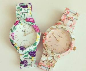 fashion, flowers, and watch image