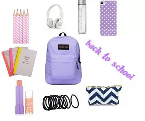 backpack, essentials, and cute image