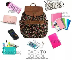 backpack, backtoschool, and backpack essentials image