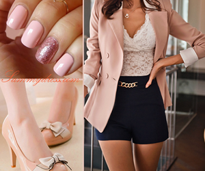 baby pink, fashion, and lace image