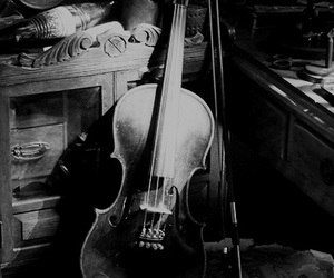 black and white, vintage, and cello image