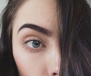 brunette, eyebrow, and girl image