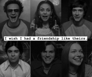 that 70s show, Mila Kunis, and ashton kutcher image