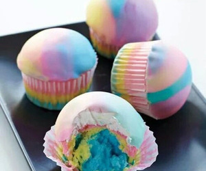 baking, colourful, and cupcakes image