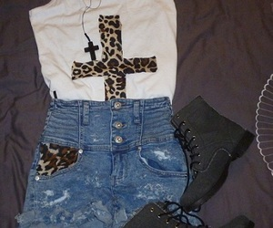 cross, fashion, and outfit image