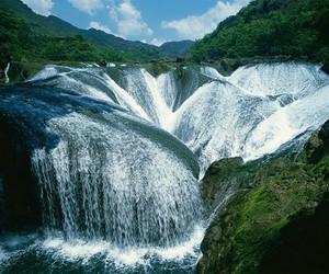 china, travel, and waterfall image