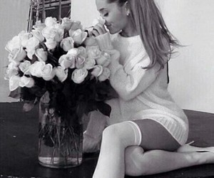 black, ariana grande, and roses image