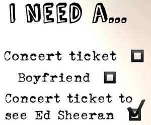 concert tickets, music, and ed sheeran image