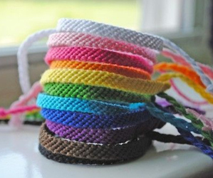 bracelet, rainbow, and colorful image