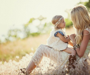 boho, mother, and daughter image