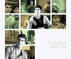 the maze runner, thomas, and newt image
