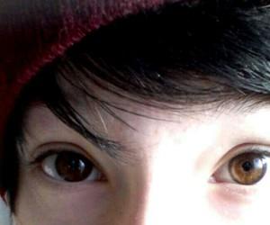 beanie, eyes, and black image