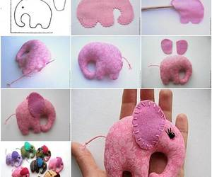 diy, elephant, and pink image