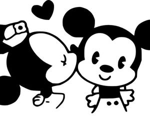 disney, mickey, and kiss image