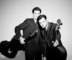 black and white, cello, and handsome image