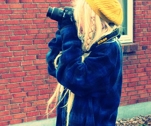 camera, girl, and dreadlocks image