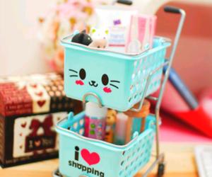 cute, kawaii, and shopping image
